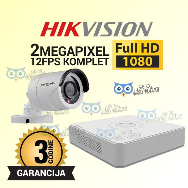 HIKVISION-2MP-DVR-1T-12V-12FPS