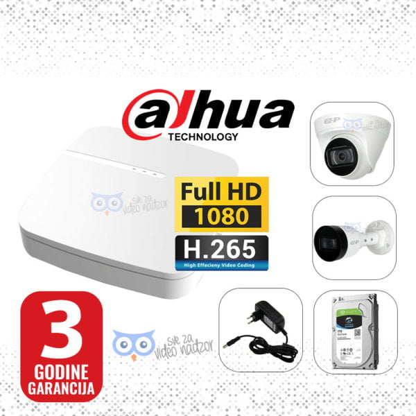 DAHUA-IP-2MP-NVR-1T-12V