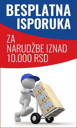 Besplatna isporuka preko 10.000 dinara