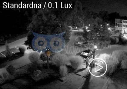 standardna 0,1 lux kamera