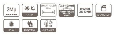 DAHUA-IPC-HDW1230T-ZS-2812-S4 specifikacija