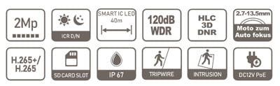 DAHUA IPC-HDW2231T-ZS-27135-S2 specifikacija