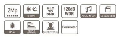 DAHUA IPC-HFW5249T-ASE-NI-0360B specifikacija