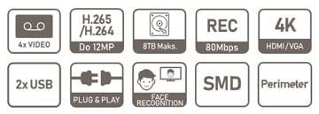 NVR2104HS-I specifikacija