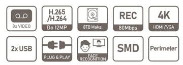 NVR2108HS-I specifikacija