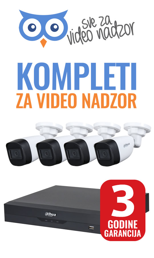 Kompleti za video nadzor - 3 godine garancija