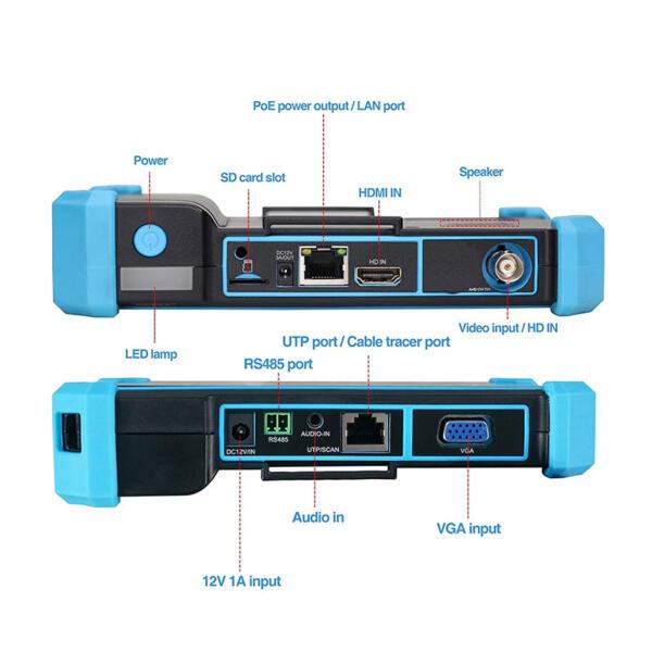 cctv-tester CV-IPTEST5100 priključci